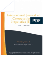 International Journal of Computational Linguistics (IJCL), Volume (1), Issue (3)