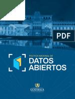 Política Nacional de Datos Abiertos 2018-2022