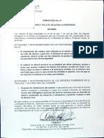 Comunicado de la Funeraria-08/07/2020