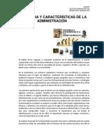 Historia y Características de Administración