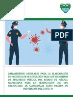 LINEAMIENTOS GENERALES DE PROTOCOLOS PARA ELEMENTOS DE SEGURIDAD PÚBLICA