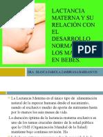 Lactancia materna y su relación con el desarrollo