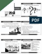 Nutrição Esportiva - 6 slides preto e branco