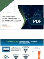 Creando una Gran Experiencia de Manaera Segura - Evento Integración Tecnologica - Versa Networks Rev 1