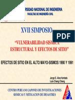1.2 MIcrozonificación Sísmica AltoMayo 1990-1991