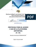 PROTOCOLO DE USO DE  UNTVIRTUAL-PARA RESOL. VAC