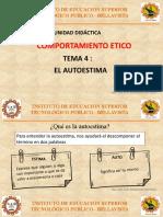 TEMA 4 - EL AUTOESTIMA