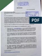 Carta Notarial de Explorandes a OjoPúblico