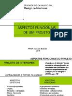 Aspectos funcionais de um projeto