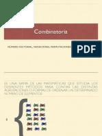 COMBINATORIA (VARIACIONES, PERMUTACIONES, COMBINACIONES)
