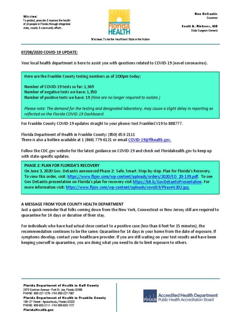 07 08 2020 Covid 19 Update Health Care Medical Bios