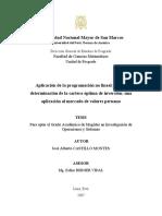 Aplicación de la programación no lineal para la determinación de la cartera óptima de inversión una aplicación al mercado de valores peruano