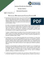 Teoría Crítica - Exposición Encíclicas y Documentos del Concilio Vaticano II