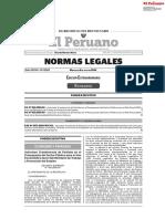 Normas Legales extraordinarias 08 julio 2020