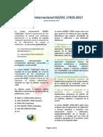 La Norma Internacional ISO IEC 17025-2017
