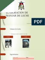 ELABORACION DE MANJAR