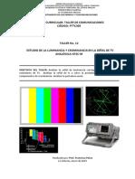 Taller 12 Sistemas de Televisión II -Análisis de la luminancia y crominancia NTSC-M