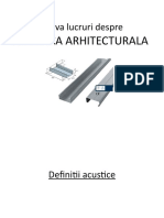 Acustica arhitecturala