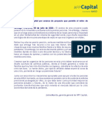 AFP Capital sobre avance de proyecto de Retiro de Fondos