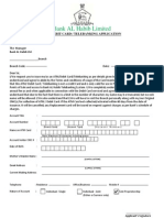 Atm Debit Telebanking Card Application