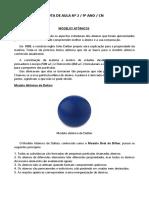 Nota Aula 2 e Exercícios_Modelos Atômicos