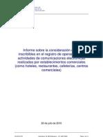Informe CMT sobre uso de wifi en hosteleria