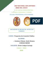 INDICADOR DE BRECHA DE CHAMACA por KARLA CENTENO