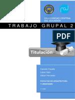 Trabajo Grupal 2  TITULACION - 07 julio 2020