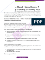 CBSE-Notes-Class-6-History-Chapter-2-From-Hunting-Gathering-to-Growing-Food