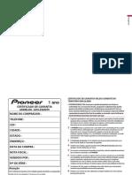 Manual Pioneer Avh-9280tv