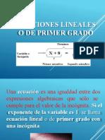 Ecuaciones lineales