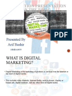 Dissertation on digital marketing by Aarif bashir