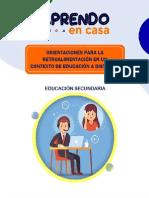 RETROALIMENTACION EN LA EDUCACION A DISTANCIA - 2020.
