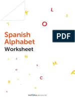 Spanish Alphabet from A to Z