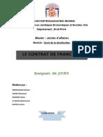 LE CONTRAT DE FRANCHISE.doc