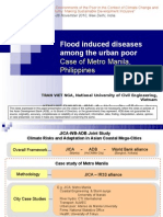 Flood induced diseases among the urban poor in Manila, Philippines - presentation