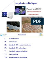 Diode photovoltaique - Projection