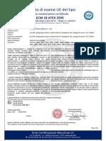 ECM 18 ATEX 2599 certificate