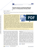 J.Chem.Educ - A complementary Laboratory Exercise. Introducing Molecular Structure-Function Topics to Undergraduate Nursing Health Professions Students