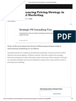 Factors Influencing Pricing Strategy in International Marketing