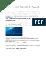 Windows 10 Activate