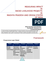 Measuring impact in DFID financed livelihood projects in in Madhya Pradesh and Orissa states of India - presentation