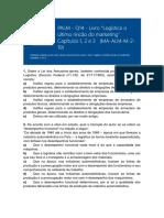 PALM - Atividade Livro Logística - Cap. 1 -2 -3