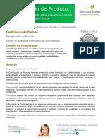 Folder Certificação de Produto