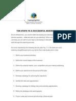 10 Steps in Formulating Biz Plan