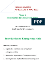 Entrepreneurship Topic 1