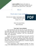 SERMÃO 2 - VOCÊ NÃO É UM ACIDENTE