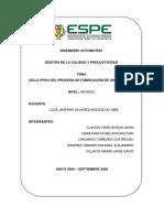P2_TAREA 2_CICLO PHVA DEL PROCESO DE FABRICACIÓN DE UN VEHÍCULO_GRUPO8