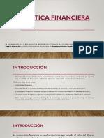 Presentación No. 1 Introducción a Matemática Financiera e Interés simple