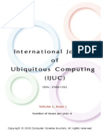 International Journal of Ubiquitous Computing (IJUC) Volume (1), Issue (1)